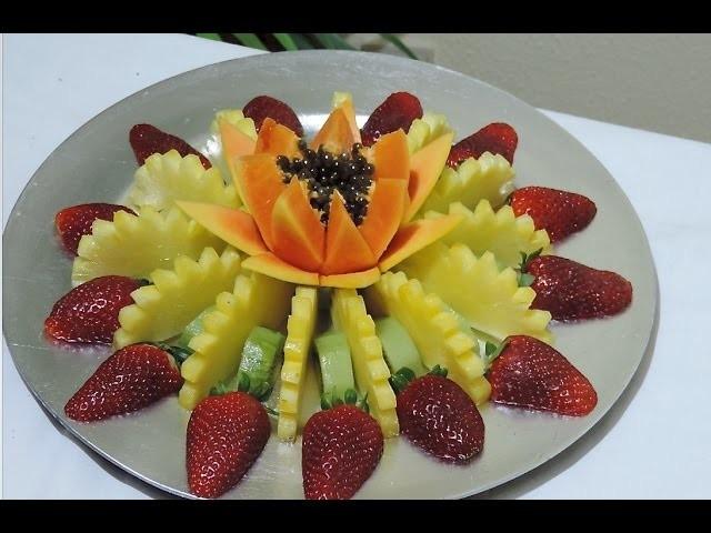 How to make a fruit center, Lesson 01 fruit centers - J.Pereira Art Carving Fruit