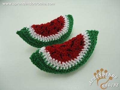 Melancia em Crochê - Mini Fruta