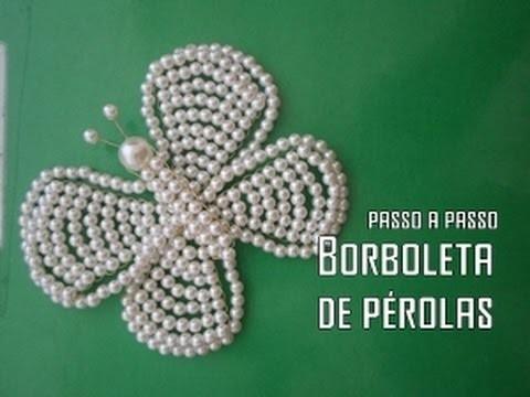 NM Bijoux - Borboleta de Pérolas - passo a passo