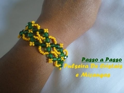 NM Bijoux - Série Brasil - Pulseira de Cristais e miçangas