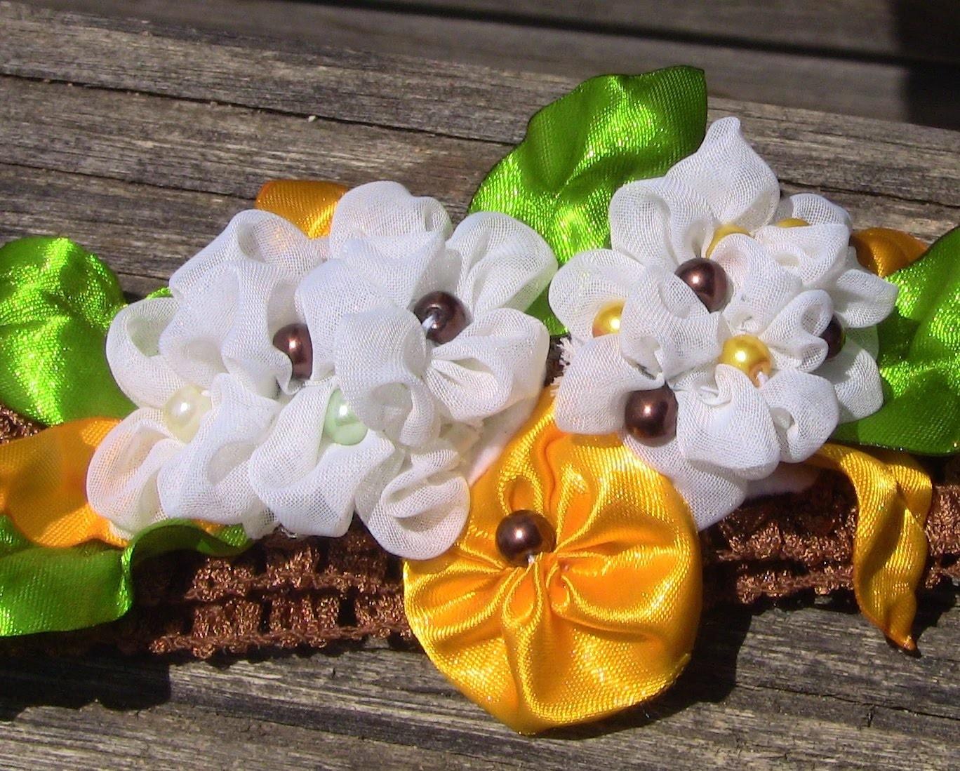 Novo modelo de Flores em Tecido e Fitas de Cetim- HOW TO MAKE ROSES- fabric flowers