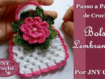 Passo a Passo Bolsa de Crochê para Lembrancinha por JNY Crochê