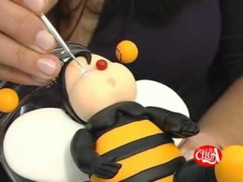 Rosa Maria gobi ensina fazer uma abelhinha em biscuit Bloco 04.flv