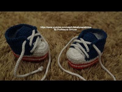 Sapatinho em Crochê George em Forma de Tênis Parte-2