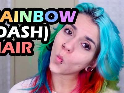 [Tutorial] Cabelo colorido arco-íris: como pintar com várias cores. rainbow (dash) hair
