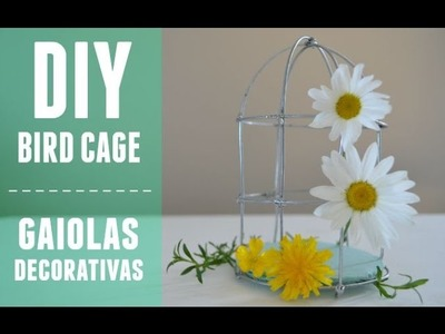 Tutorial Gaiolas decorativas :: DIY BIRD CAGES