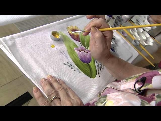 Aprenda a fazer a pintura em tecido