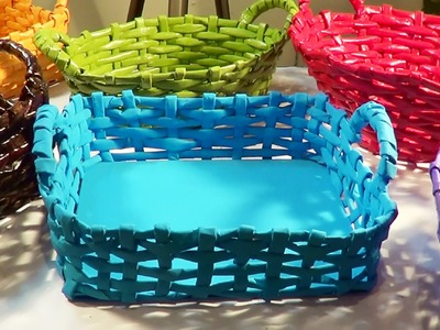 Cesta com alça - Basket with Handle - Canastra con manijas