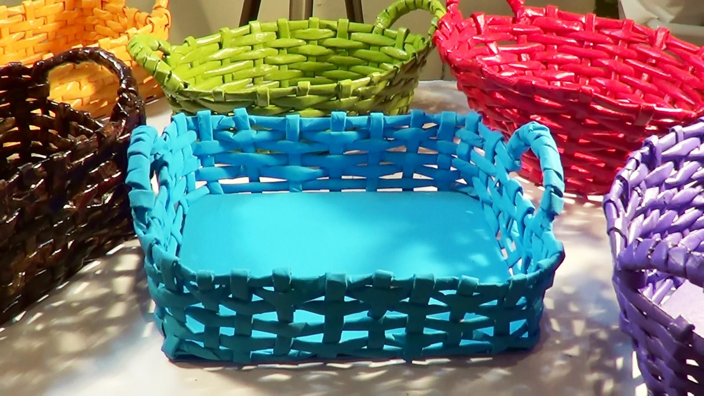 Cesta com alça - Basket with Handle - Canastra con manijas