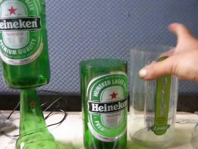 Como cortar garrafas para fazer copos e taças em 30 segundos vídeo 1