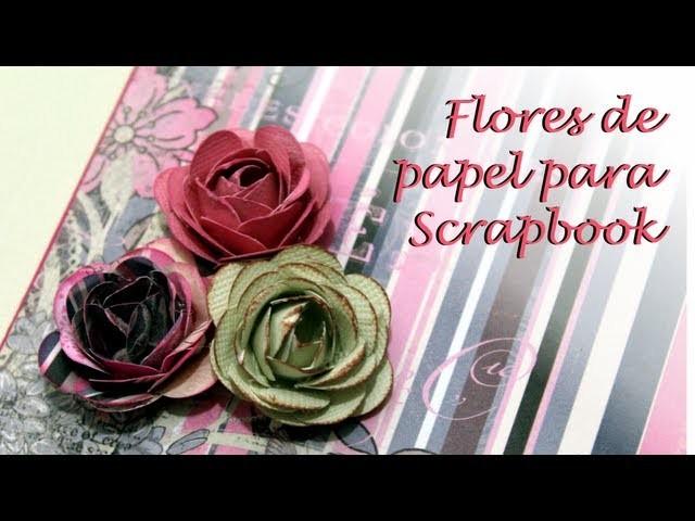 Como fazer mini Flor de Papel