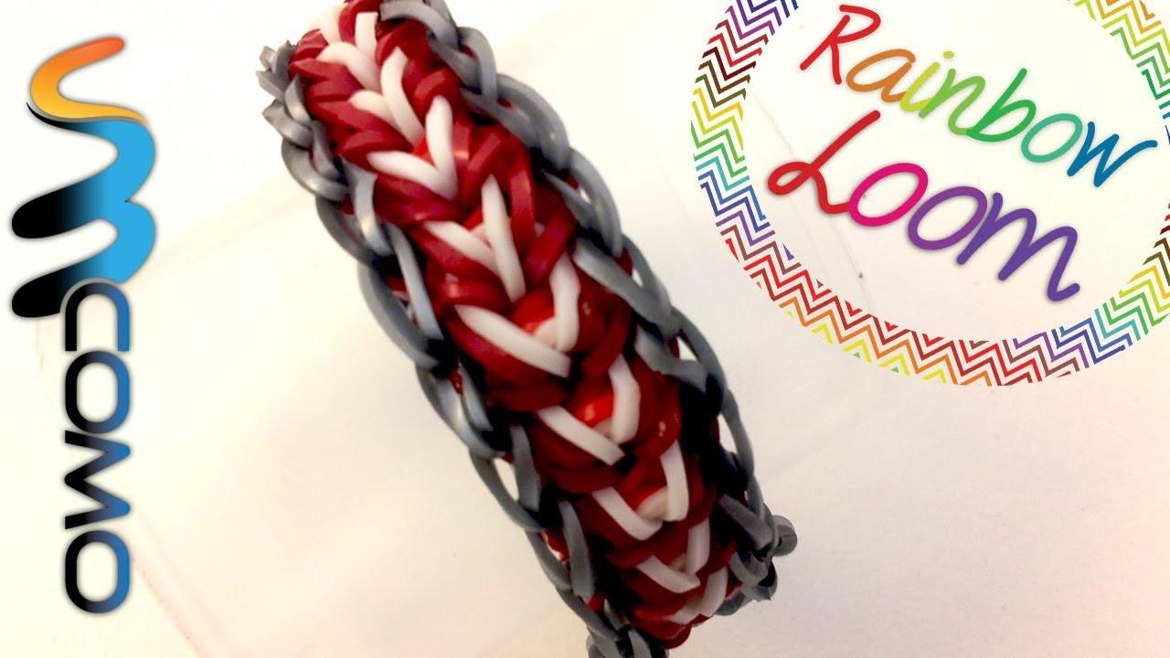 Como fazer pulseiras de elástico - Feather