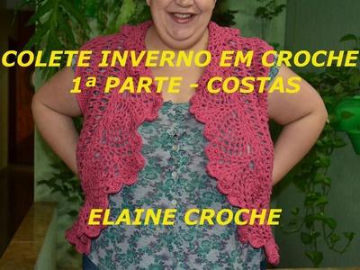 CROCHE PARA CANHOTOS - LEFT HANDED CROCHET - COLETE INVERNO EM CROCHÊ - COSTAS CANHOTAS