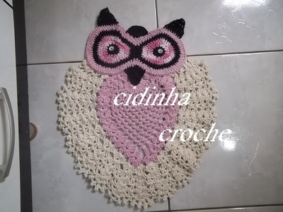 Croche-Tapete De Coruja-Passo A Passo-Parte 1
