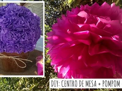 DIY: Bola de Flores + Pompom + Dicas de decoração