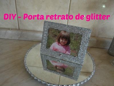 DIY - Porta retrato glitter