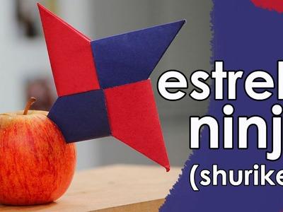 Estrela ninja de origami (shuriken)