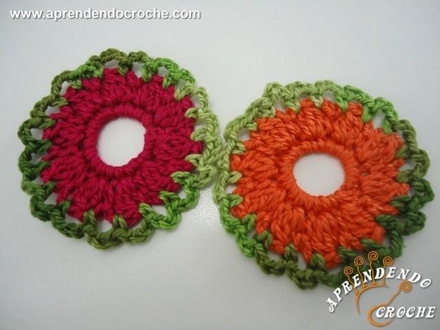 Flor de Crochê Redondinha - Aprendendo Crochê