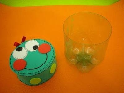 Lembrancinha de aniversário feita com GARRAFA Pet  passo a passo recycling