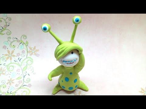 Litlle monster costume. Disfarce de monstrinho - Polymer clay (Fimo)
