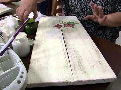 Mulher.com 13.05.2014 - Cabideiro Palets reciclados por Rose Rodrigues parte 01