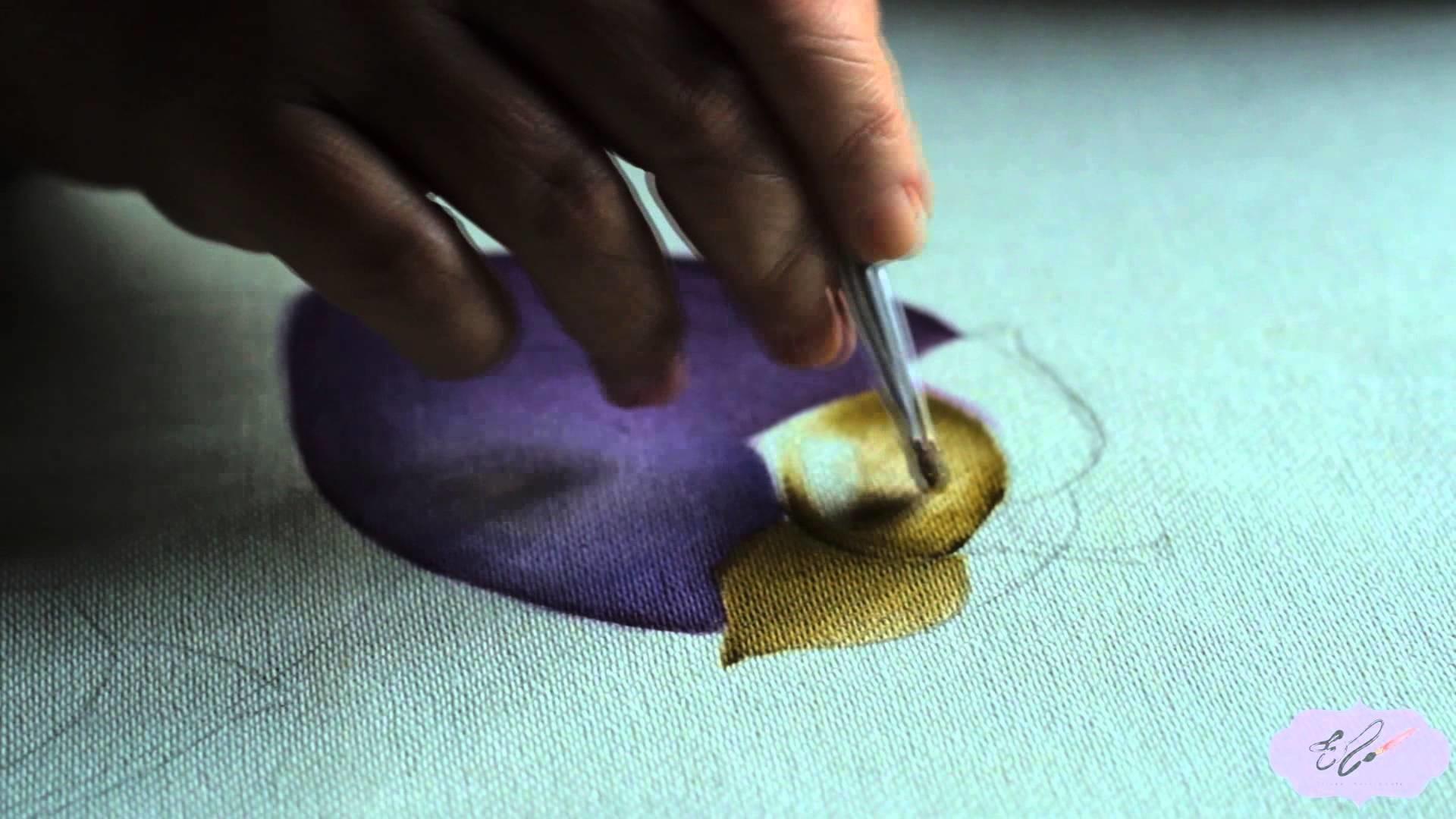 Pintura em tecido - Berinjela. Eliane Nascimento