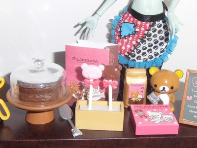 Re-ment: Rilakkuma Chocolate Cafe - miniaturas unboxing