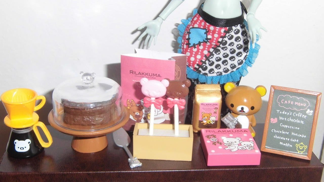 Re-ment: Rilakkuma Chocolate Cafe - miniaturas unboxing