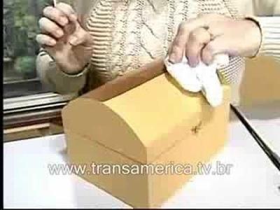 Tv Transamérica - Artesanato Bau em imitação de couro 1
