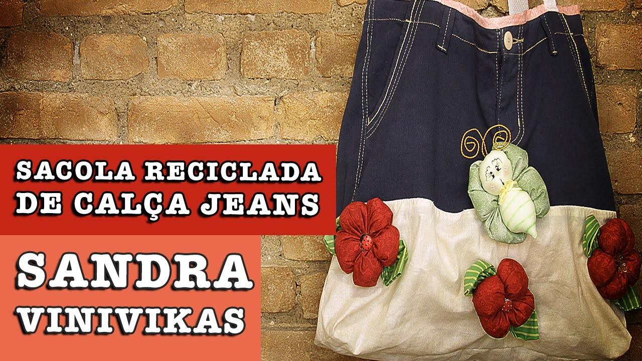 16.07.2014 - Sacola Reciclada de Jeans (Sandra Vinivikas)