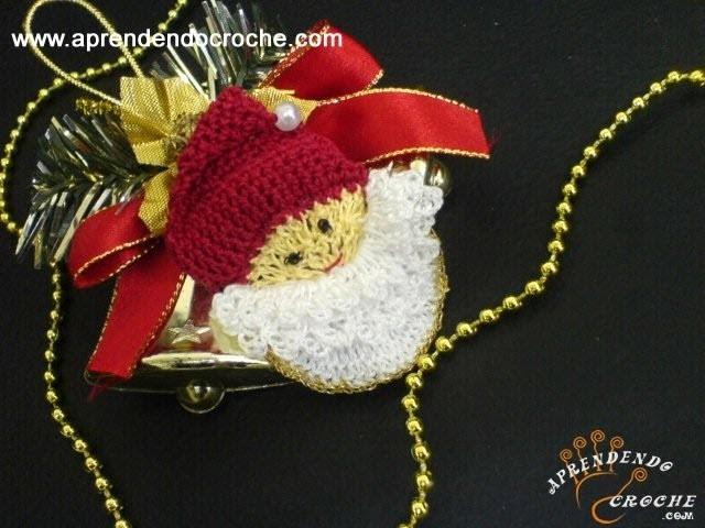 3º Parte - Imã de Geladeira em Croche - Papai Noel Delicado - Aprendendo Crochê