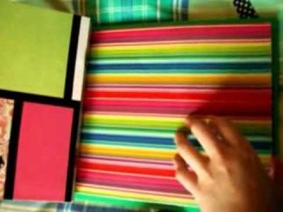 Álbum scrapbook alegre y colorido para regalar