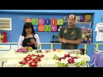 Ateliê na TV - 08.09.14 - Cristina Luriko. Glória Tommasi