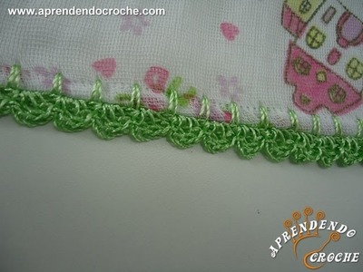 Biquinho de Croche para Fralda - Aprendendo Crochê