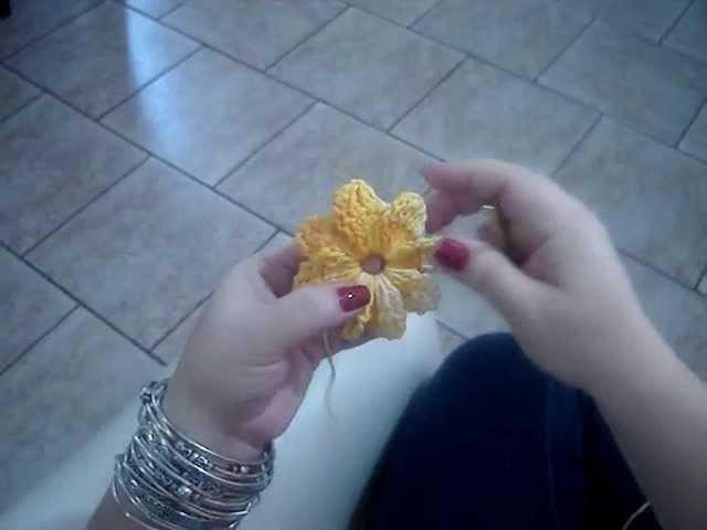 Como fazer Flor Catavento em Crochê
