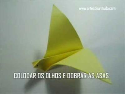 Como Fazer Origami Andorinha #01