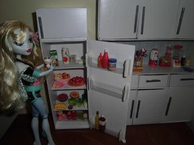 Como fazer uma geladeira para boneca Monster High, Pullip, Barbie e etc