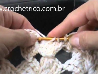 CROCHÊ - Ponto Fantasia Florzinhas - 03.03