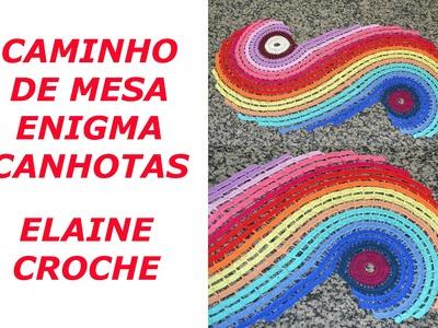 CROCHE PARA CANHOTOS - LEFT HANDED CROCHET - CAMINHO MESA ENIGMA CANHOTAS