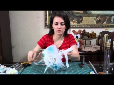 DIY - Bouquet de broches e tecidos - 4ª parte
