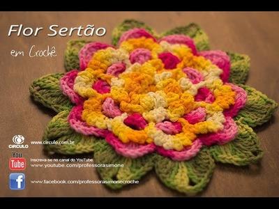 Flor do Sertão em Crochê - Professora Simone