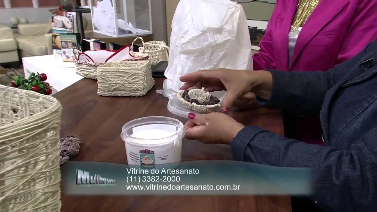 Mulher.com 28.05.2013 Carmen Freire - Cesto de crochê Parte 2.2