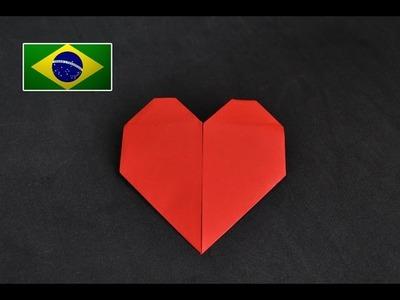 Origami: Coração Dia dos Namorados - Tutorial com voz PT BR