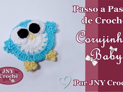 Passo a Passo de Crochê Corujinha Baby por JNY Crochê