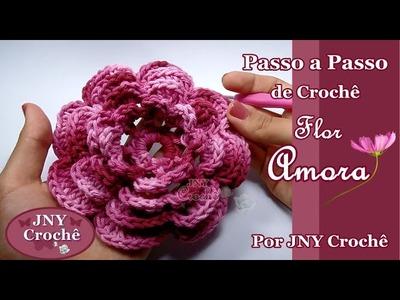 Passo a Passo de Crochê Flor Amora por JNY Crochê