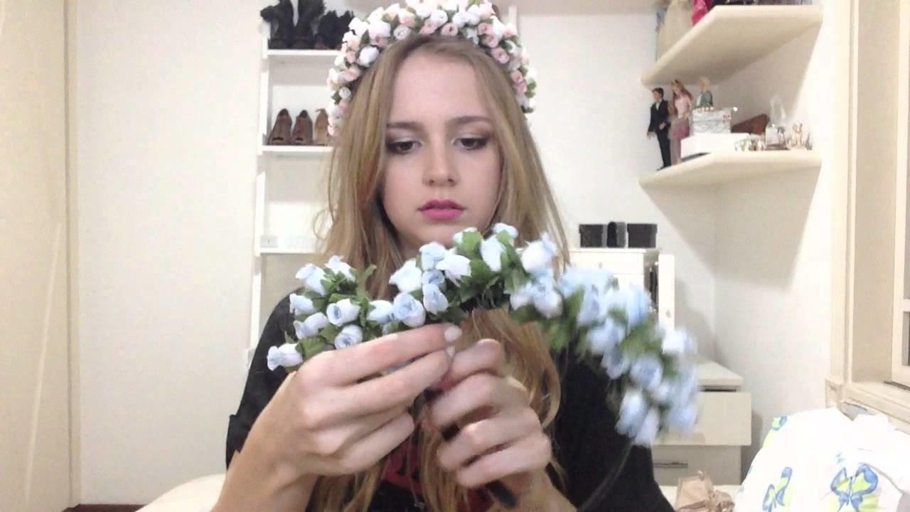 Tutorial: Tiara de Flores Estilo Lana Del Rey
