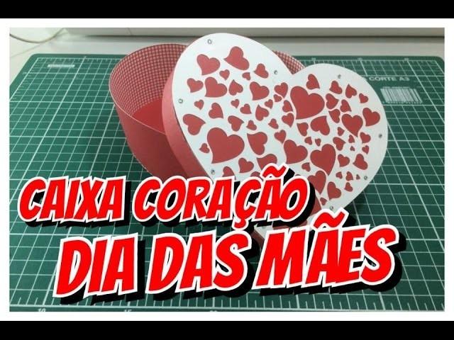 Caixa Coração - Dia Das Mães - scrapbook - fácil - passo a passo