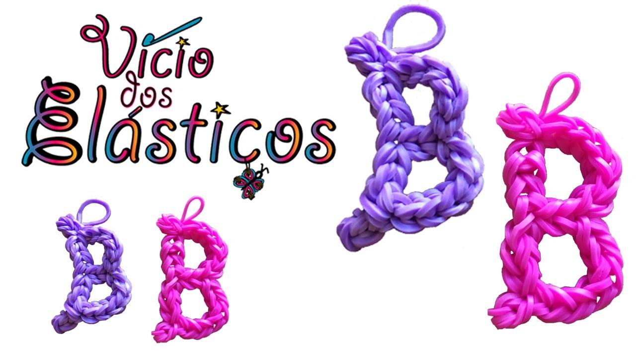 Como fazer a Letra B de elásticos (sem Tear) - Rainbow Loom