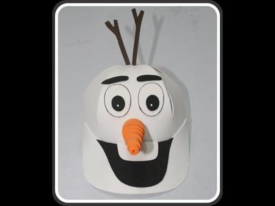 Como fazer lembrancinha do frozen  ( boné Olaf )