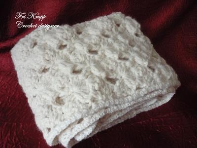 """Como fazer o Ponto em croche do meu cachecol """"Lady"""" - Häkelschal,scarf,Masche, Stitch"""